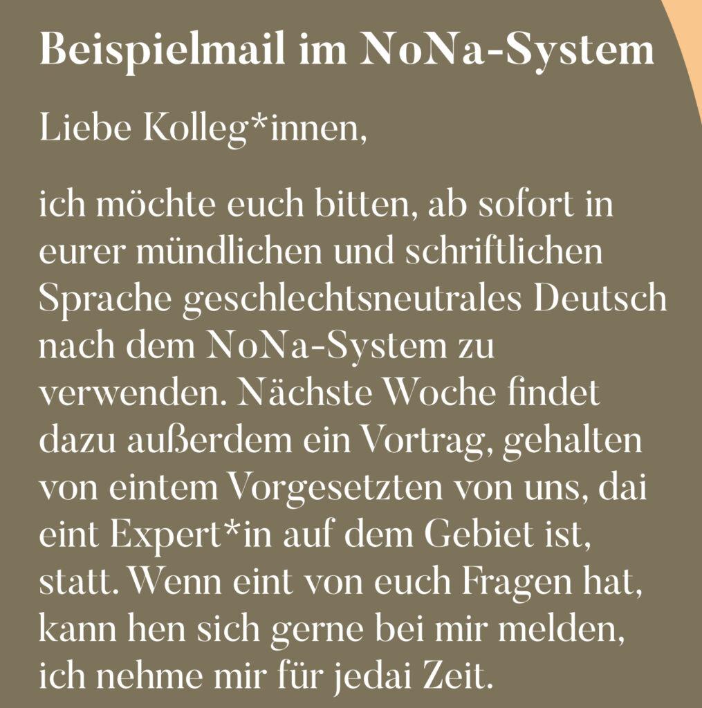 Beispielmail im NoNa-System